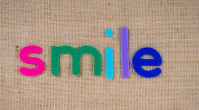 magnets spelling out the word smile