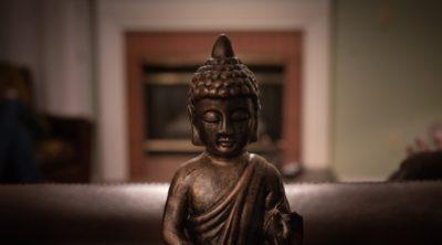 Head of a small buddha statue